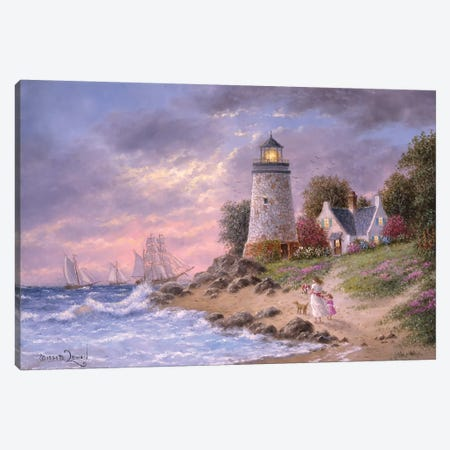 A Sailor's home Coming Canvas Print #LWN7} by Dennis Lewan Canvas Art Print