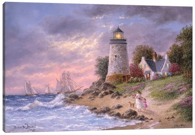 A Sailor's home Coming Canvas Art Print