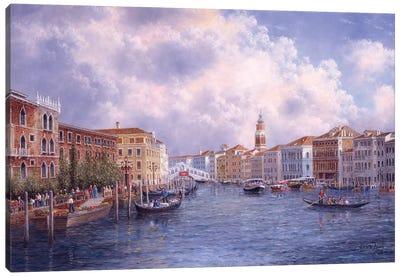Market Day in Venice Canvas Art Print