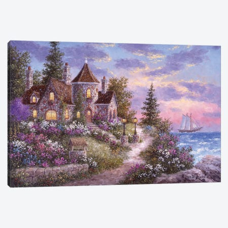 Mystic Manor Canvas Print #LWN88} by Dennis Lewan Canvas Artwork