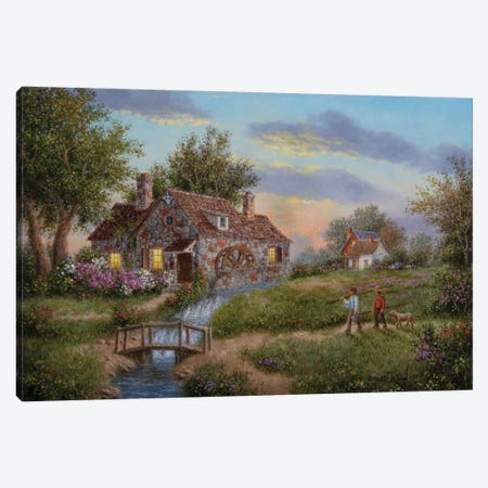 Old Mill Creek Canvas Print #LWN90} by Dennis Lewan Canvas Print