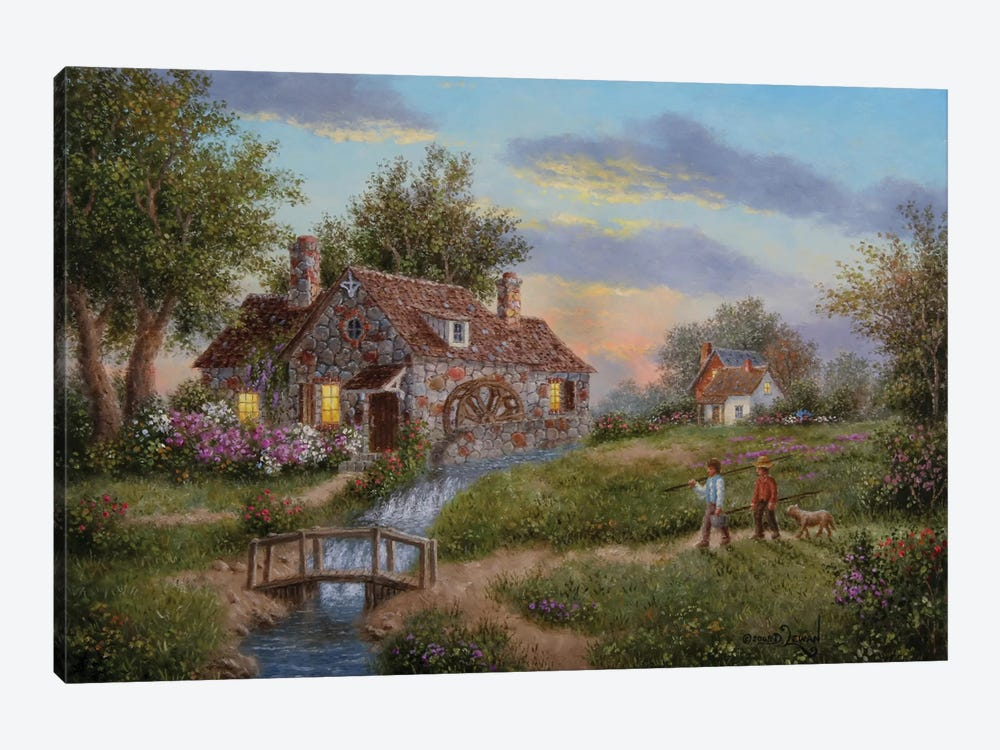 Old Mill Creek by Dennis Lewan 1-piece Canvas Artwork