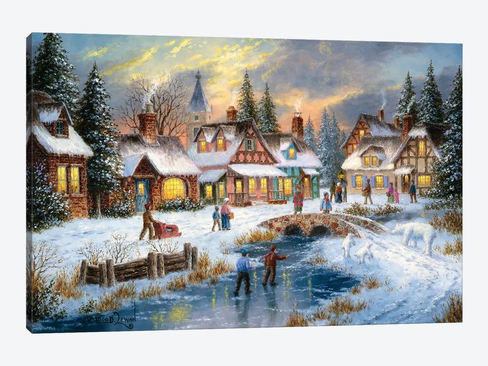 Polar Bear Junction by Dennis Lewan 1-piece Canvas Print