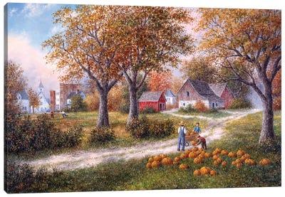 Pumpkin Harvest Canvas Art Print