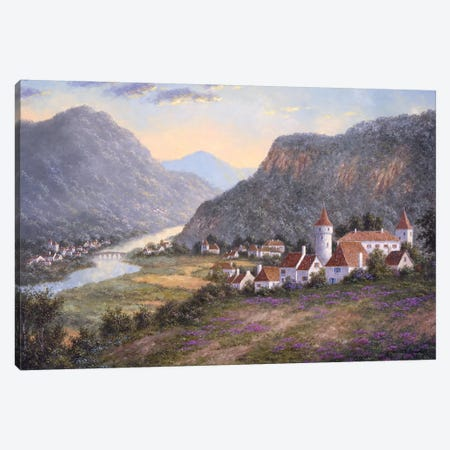 River Towns of France Canvas Print #LWN97} by Dennis Lewan Canvas Wall Art
