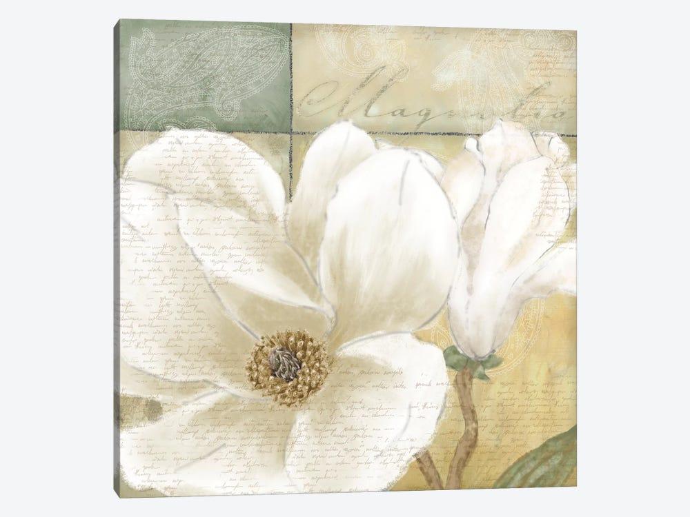 Aqua Magnolia II by Linda Wood 1-piece Art Print