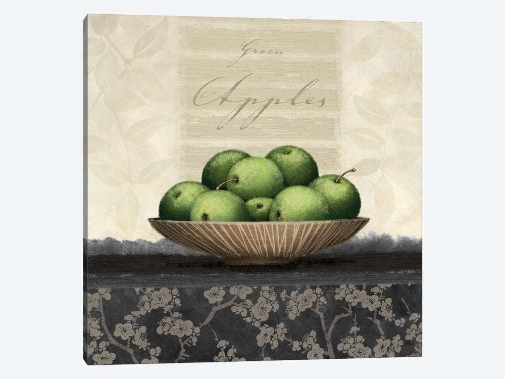 Green Apples by Linda Wood 1-piece Canvas Wall Art