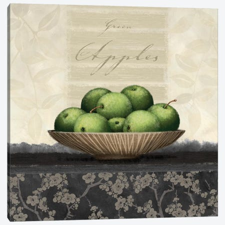 Green Apples Canvas Print #LWO5} by Linda Wood Canvas Art