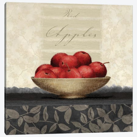 Red Apples Canvas Print #LWO6} by Linda Wood Canvas Artwork