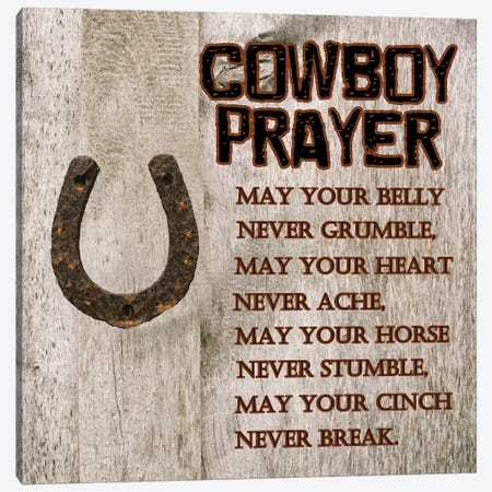 Cowboy Prayer Canvas Print #LWS14} by Sheldon Lewis Canvas Print