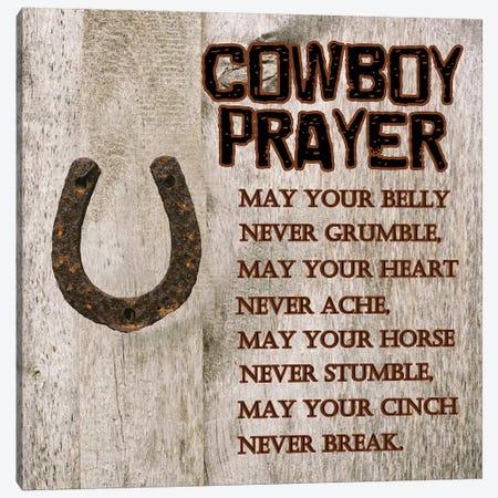 Cowboy Prayer Canvas Print #LWS14} by Sheldon Lewis Canvas Print