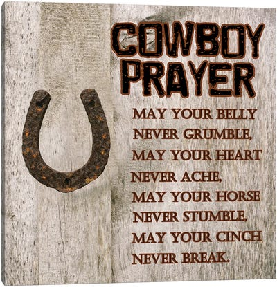 Cowboy Prayer Canvas Art Print