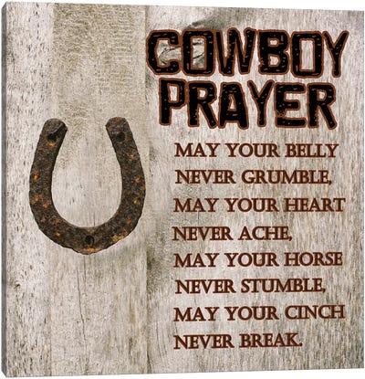 Cowboy Prayer Canvas Art Print