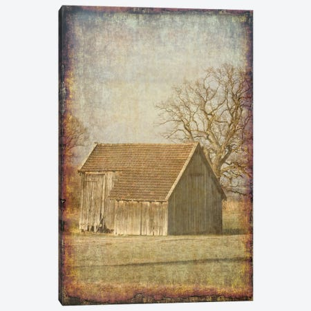 Old Farm View I Canvas Print #LWS16} by Sheldon Lewis Art Print