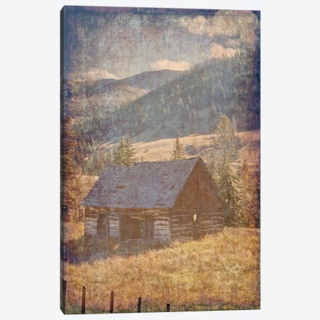 Old Farm View II 3-Piece Canvas #LWS17} by Sheldon Lewis Canvas Print