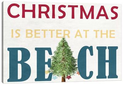 Christmas At The Beach Canvas Art Print
