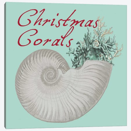 Christmas Corals Canvas Print #LWS23} by Sheldon Lewis Art Print