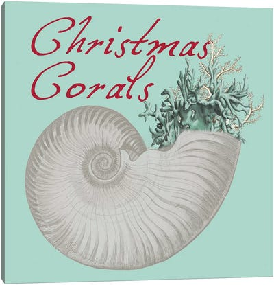 Christmas Corals Canvas Art Print