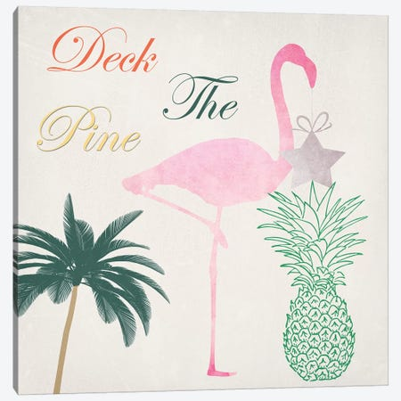 Deck The Pine 3-Piece Canvas #LWS25} by Sheldon Lewis Canvas Artwork