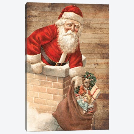 Hurry Down The Chimney Canvas Print #LWS27} by Sheldon Lewis Canvas Wall Art