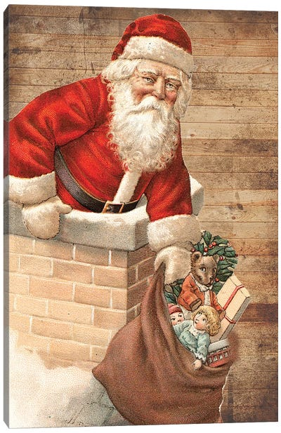 Hurry Down The Chimney Canvas Art Print