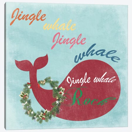 Jingle All The Whale Canvas Print #LWS28} by Sheldon Lewis Canvas Art Print