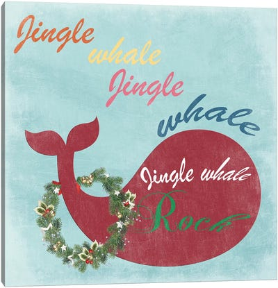 Jingle All The Whale Canvas Art Print