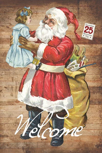 20Wx24H SANTA/'S WORKSHOP by NORMAN ROCKWELL CLAUS CHRISTMAS NORT POLE CANVAS