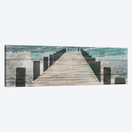 Jetty Canvas Print #LWS3} by Sheldon Lewis Canvas Wall Art