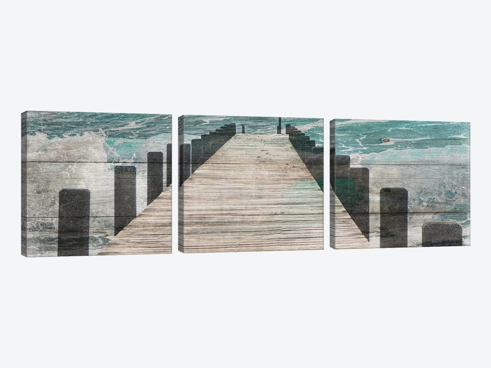 Jetty by Sheldon Lewis 3-piece Canvas Artwork