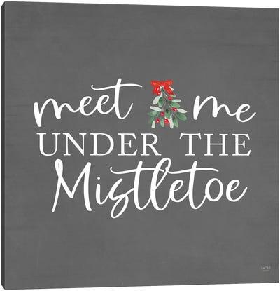 Under The Mistletoe Canvas Art Print