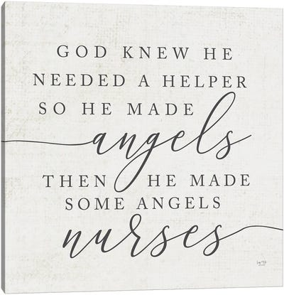 God Made Angel Nurses Canvas Art Print