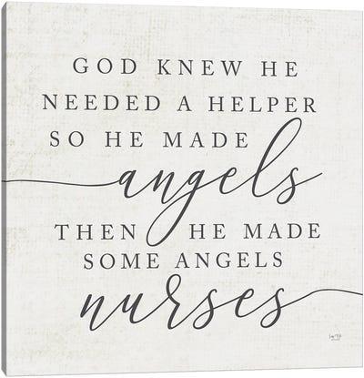 God Made Angel Nurses Canvas Art Print