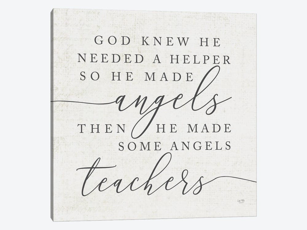 God Made Angel Teachers by Lux + Me Designs 1-piece Canvas Artwork