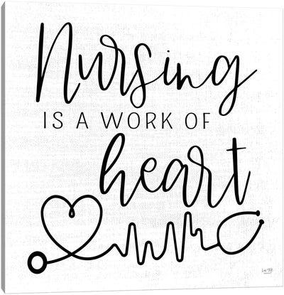 Nursing a Work of Heart Canvas Art Print