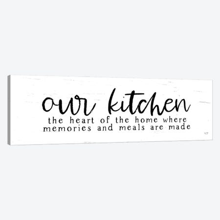 Our Kitchen Canvas Print #LXM19} by Lux + Me Designs Canvas Wall Art