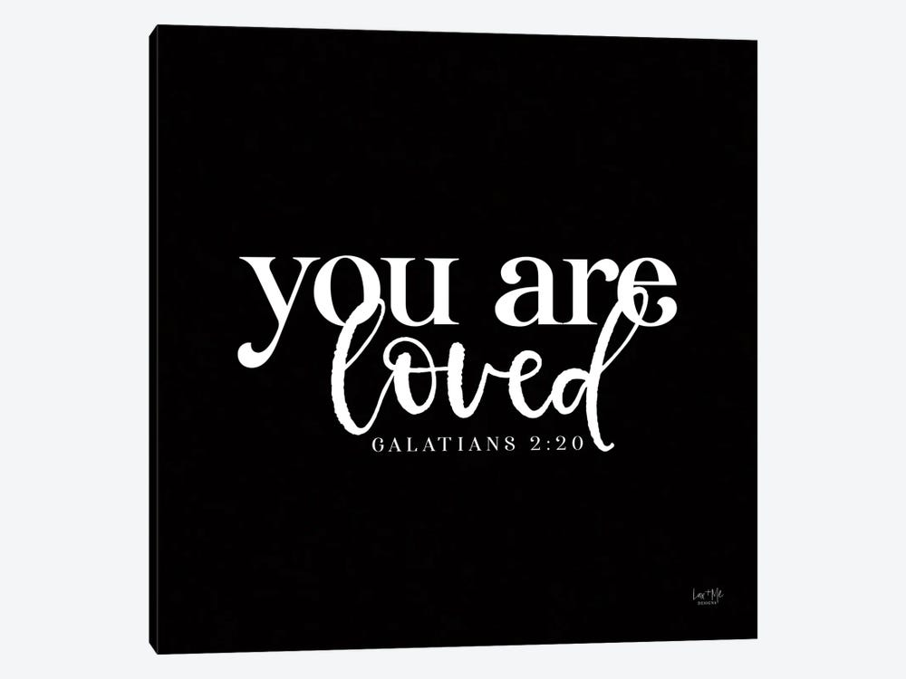 You Are Loved by Lux + Me Designs 1-piece Canvas Art Print