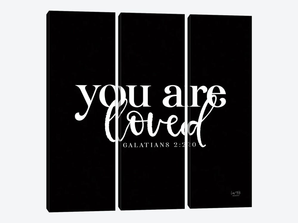 You Are Loved by Lux + Me Designs 3-piece Canvas Art Print