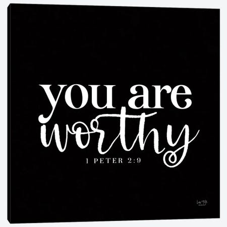 You Are Worthy Canvas Print #LXM24} by Lux + Me Designs Canvas Artwork