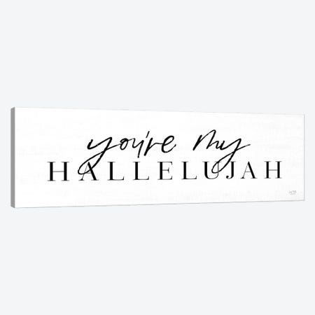 You're My Hallelujah Canvas Print #LXM25} by Lux + Me Designs Canvas Wall Art