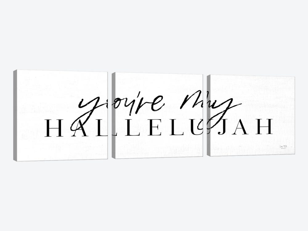 You're My Hallelujah by Lux + Me Designs 3-piece Canvas Print