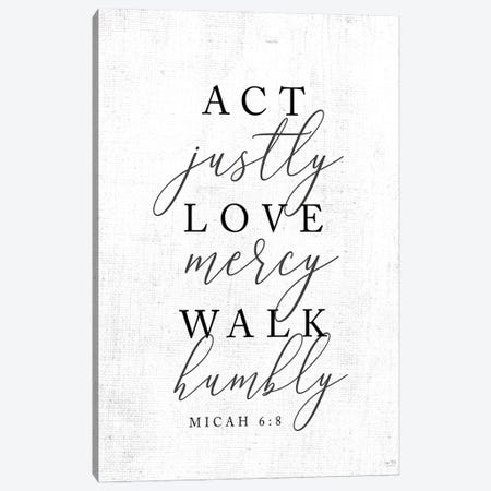 Act Justly Canvas Print #LXM26} by Lux + Me Designs Canvas Artwork