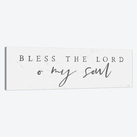 Bless the Lord Canvas Print #LXM27} by Lux + Me Designs Canvas Artwork