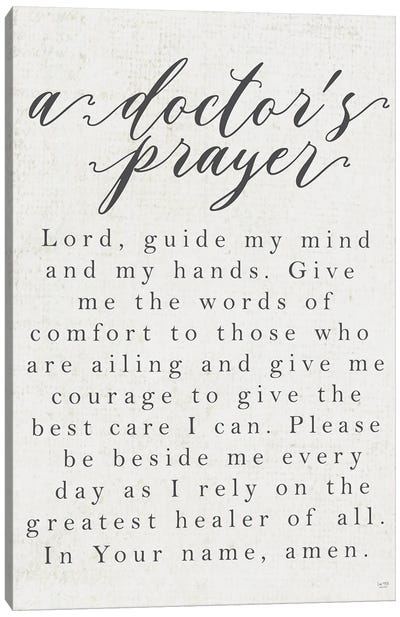 A Doctor's Prayer Canvas Art Print