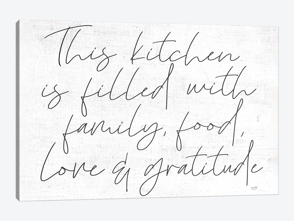 Family, Food, Love and Gratitude by Lux + Me Designs 1-piece Canvas Print