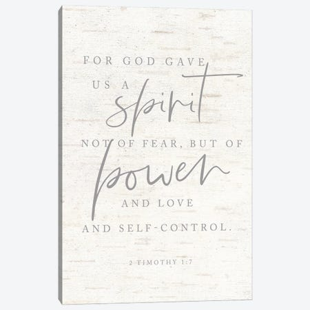 For God Gave Us a Spirit Canvas Print #LXM31} by Lux + Me Designs Canvas Artwork