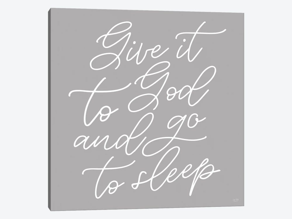 Give It to God by Lux + Me Designs 1-piece Canvas Print