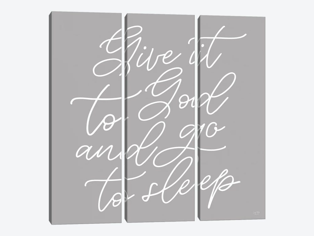 Give It to God by Lux + Me Designs 3-piece Art Print