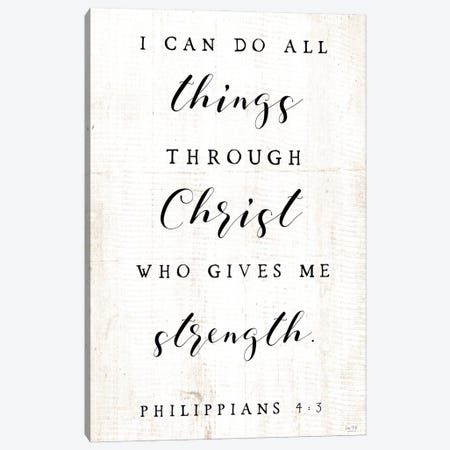 I Can Do All Things Canvas Print #LXM36} by Lux + Me Designs Canvas Art Print