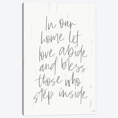 Let Love Abide Canvas Print #LXM38} by Lux + Me Designs Canvas Art